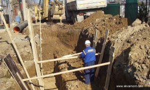 укрепване на изкоп